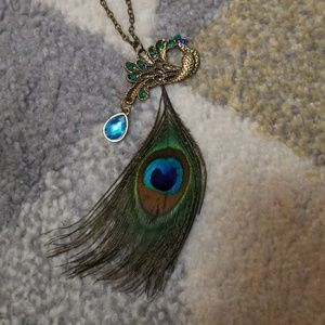 Peacock Necklace NWOT